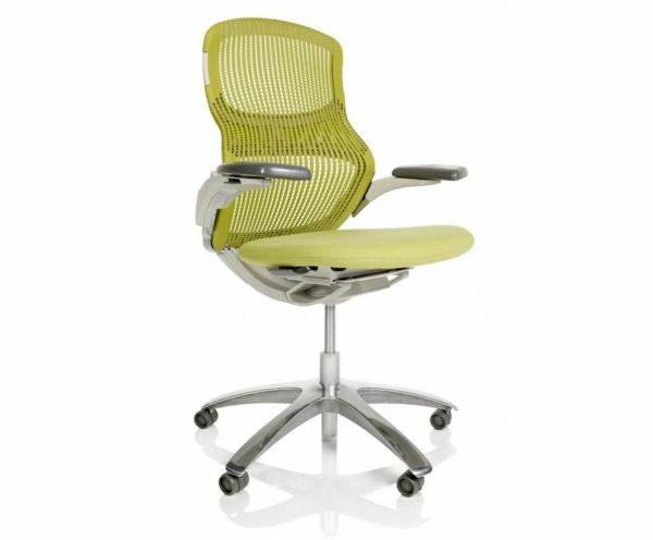komfortabler-Drehstuhl-mit-modernem-Design-in-Olivgrün