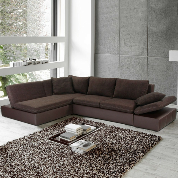Sofa mit schlaffunktion bequem und super praktisch - Braunes ecksofa ...