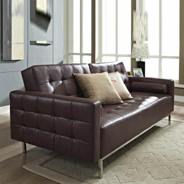 ledersofa-braun-komfortables-und-modernes-schlafsofa Sofa mit Schlaffunktion