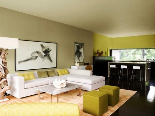 grüne zimmerdecke im luxuriösen wohnzimmer