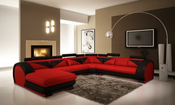living-room-furniture-sensational-red-leather-sectional-sofa-with-standing-lamp-also-white-ceiling-elegance-red-leather-sectional