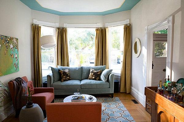 coole zimmerdecke im gemütlichen wohnzimmer