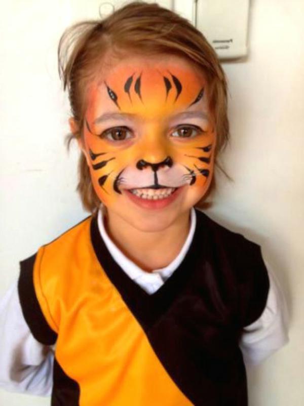 Tiger Schminken für Mädchen und Frauen:
