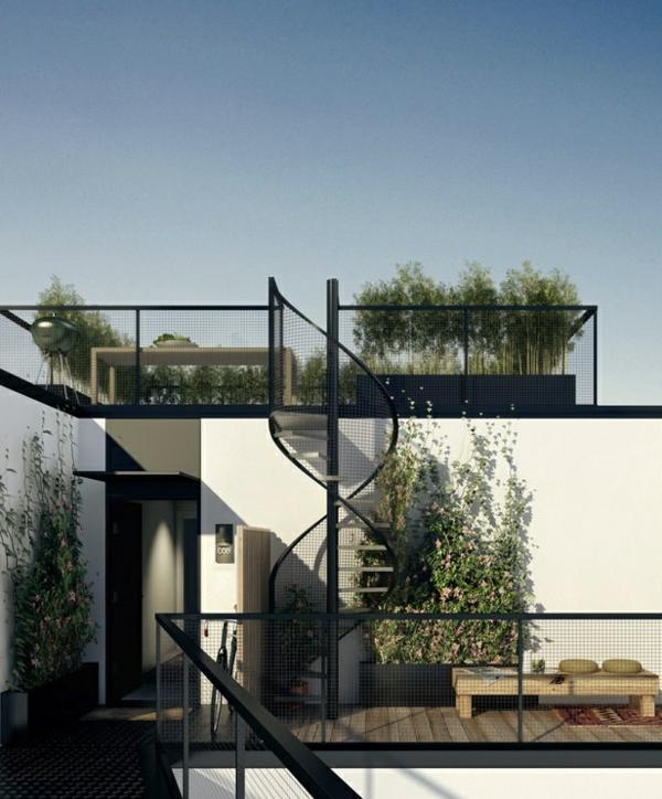 moderne-Außentreppe-exterior-Design-Ideen-