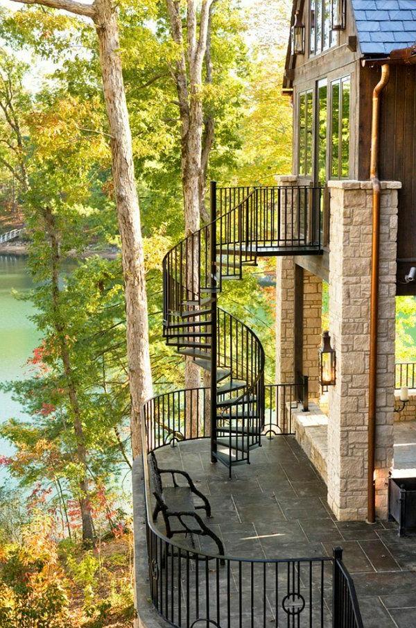 moderne-Außentreppe-exterior-Design-Ideen