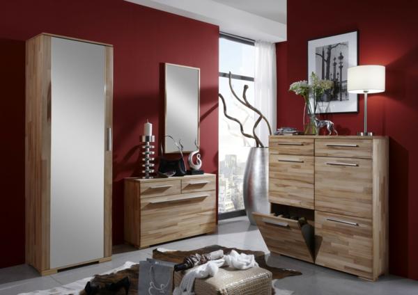 moderne-dielenmöbel-rote-wandgestaltung-modernes-design