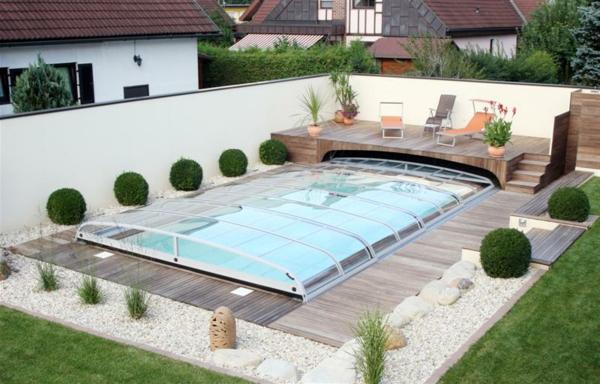 swimmingpool design ideen flachen, poolüberdachung - moderne und aktuelle vorschläge! - archzine, Design ideen