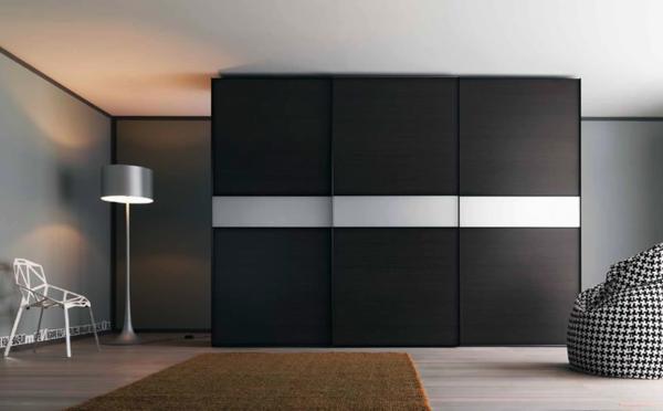 moderne-schwarze--Schiebetüren-für-Kleiderschrank-schöne-Wohnideen-für-Zuhause