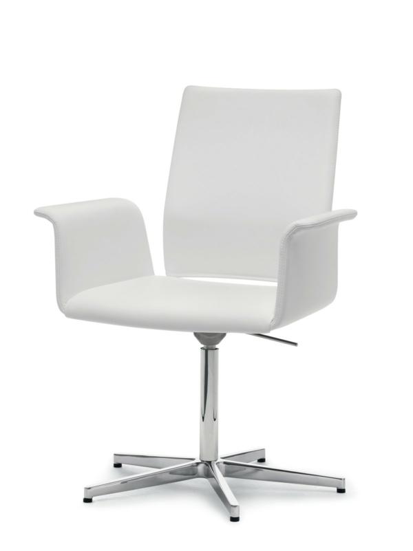 moderner-Arbeitsplatz-Schreibtischstuhl-in-Weiß-mit-originellem-Design