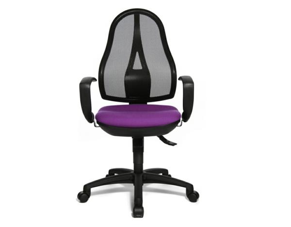 -moderner-bequemer-Bürostuhl-in-Schwarz-und-Lila-elegantes-Modell-Büromöbel