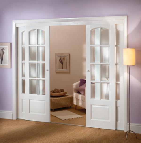Innent ren in wei schick und elegant for Portes interieures vitrees modernes