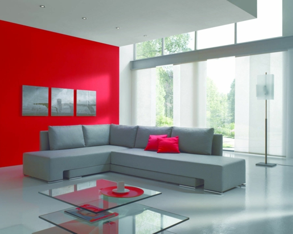 wohnzimmer blau grau rot. Black Bedroom Furniture Sets. Home Design Ideas