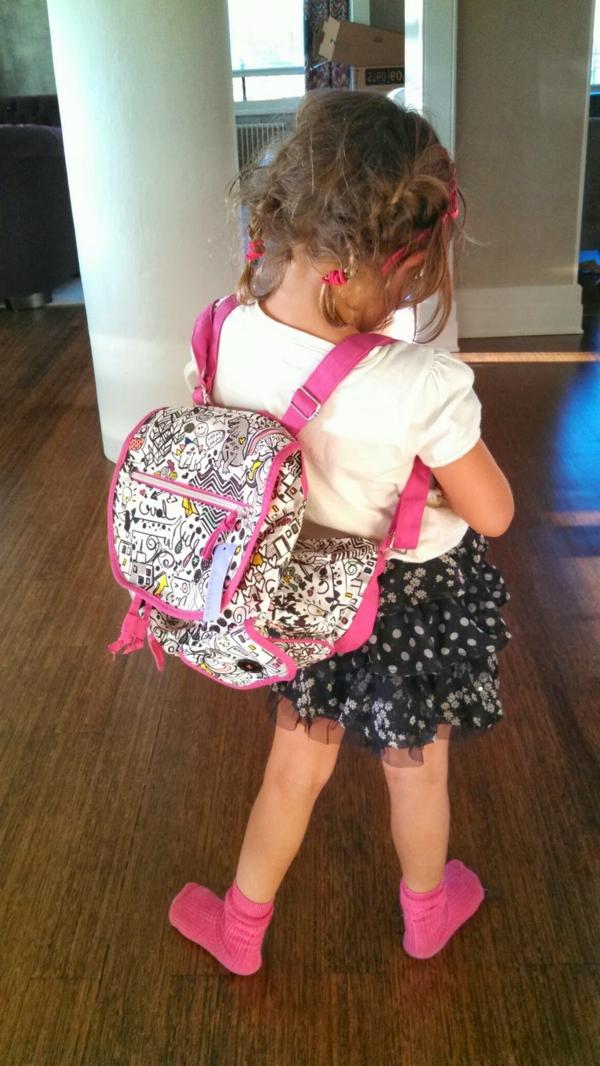 rucksack in rosiger farbe - für kleine mädchen