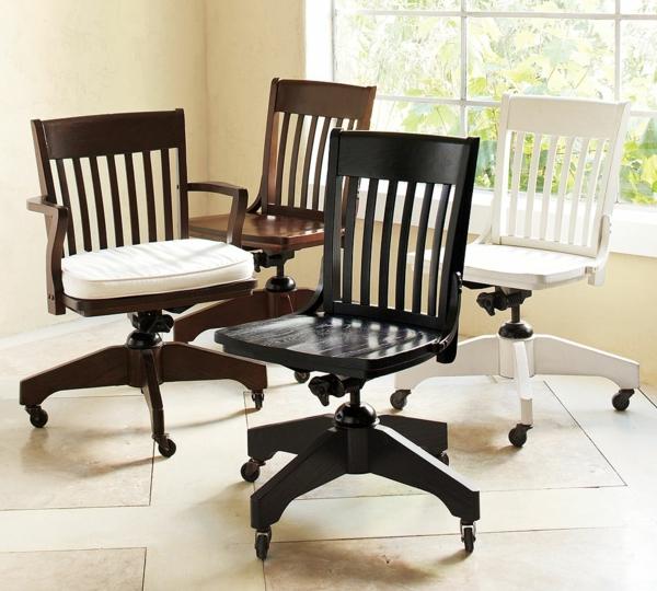 originelle-Bürostühle-in-schwarzer-Farbe