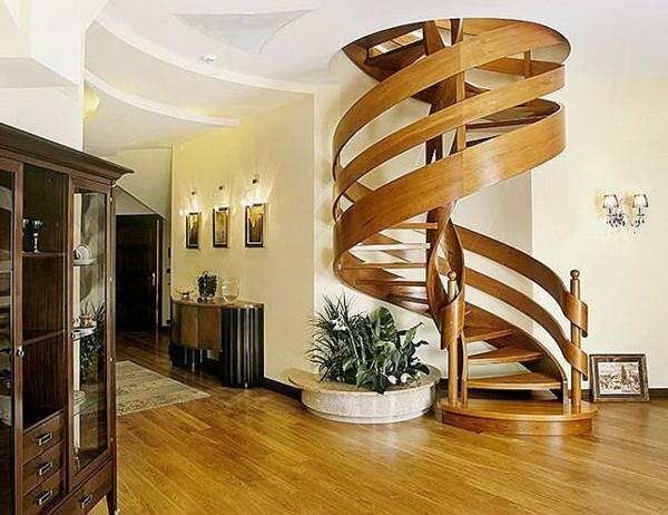 originelles-Design-hölzerne-Innentreppe-Interior-Design-Ideen