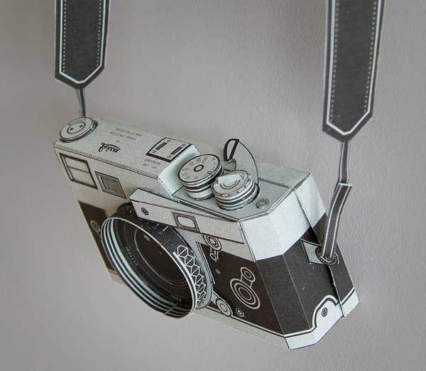 origami-gefaltet-fotoaparat