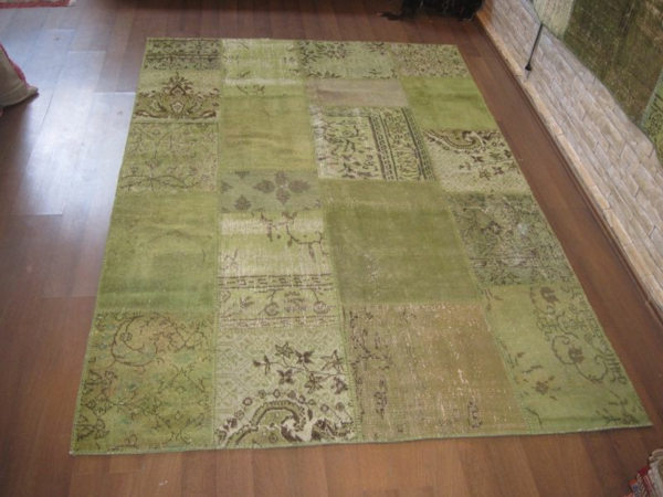 teppich-patchwork-grün