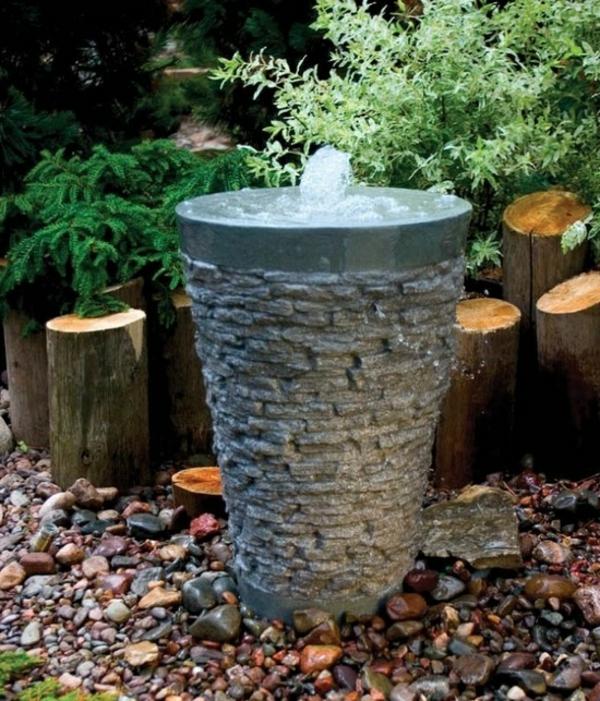 Moderner Garten Springbrunnen : garten mit einem modernen springbrunnen gestalten