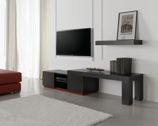 fernsehtisch 22 super effektvolle modelle. Black Bedroom Furniture Sets. Home Design Ideas