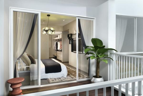 pflanzen-im-schlafzimmer-auf-der-weißen-terrasse