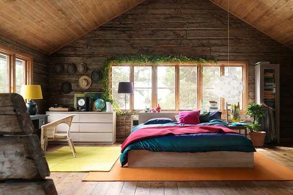 pflanzen-im-schlafzimmer-im-lanhausstil