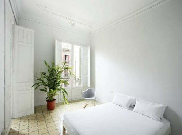 pflanzen-im-schlafzimmer-in-weißer-farbe