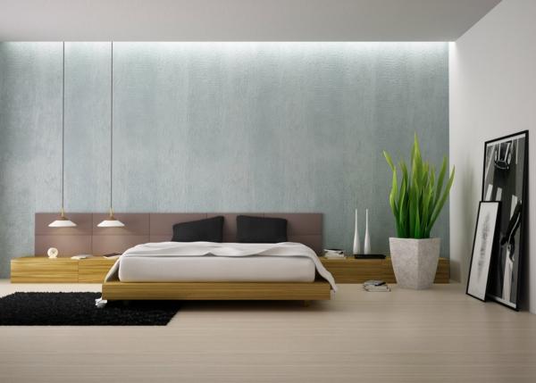 pflanzen-im-schlafzimmer-mit-indirekter-beleuchtung-und-einem-schicken-bett