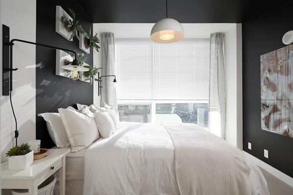 pflanzen-im-schlafzimmer-sehr-interessant-über-dem-bett-an-der-wand-gehängt