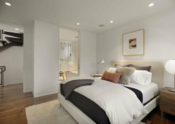 schlafzimmer inspiration - moderne deckenleuchten über dem bett