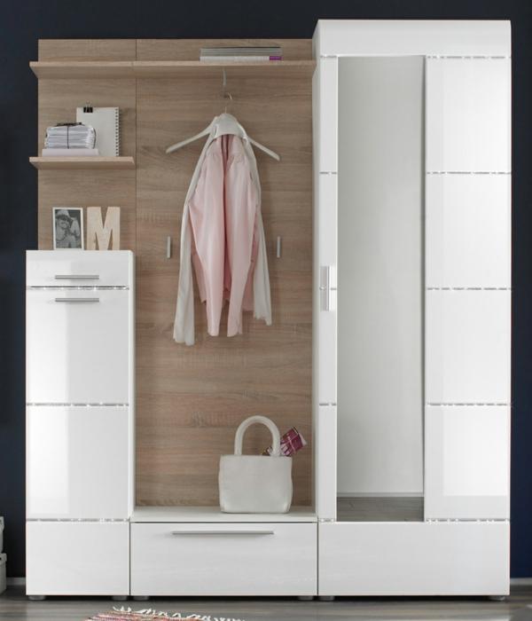 praktische-und-effektvolle_Dielenmöbel-mit-schönem-Design-Dielenschrank-in-Weiß