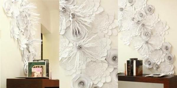 wand-origami-blumen-weiß