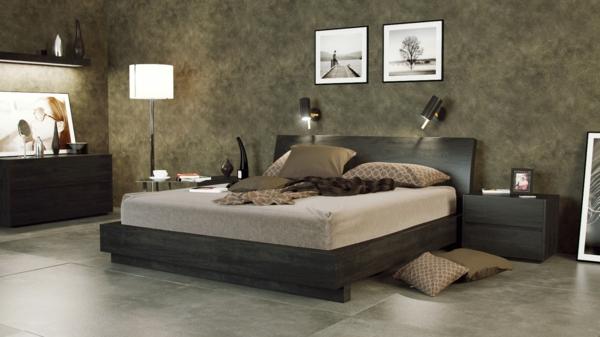 schlafzimmer inspiration - zwei moderne quadratische bilder