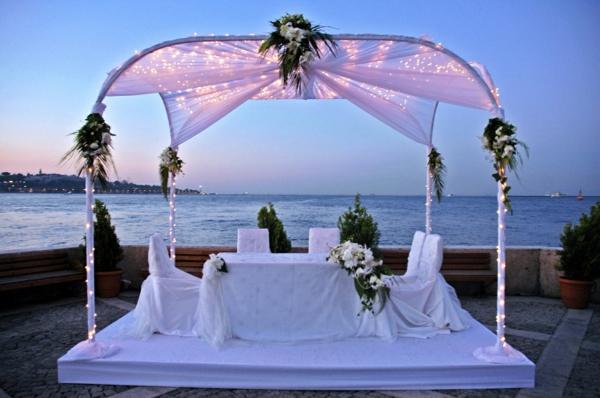 Hochzeit am Strand wunderschöne Gestaltung