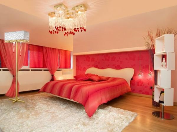 Entzuckend Romantisches Schlafzimmer Design Pfirsich Farbe