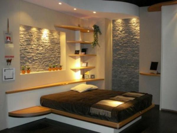 Romantisches Schlafzimmer Design Weiße Schöne Wand