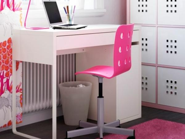 rosa-Schreibtischstuhl-Kinder-bequemes-Design