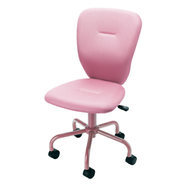 rosa-bequemer-Bürostuhl-elegantes-Modell-Büromöbel
