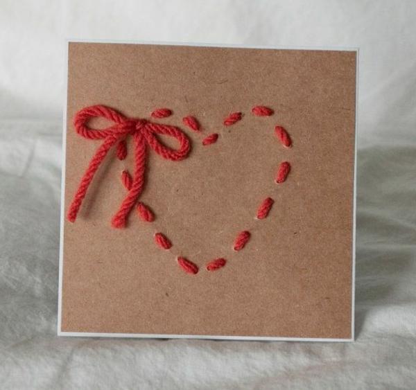 Süße Ideen Valentinstag   Deko Herzen Ideen Karte Mit