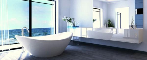 Badezimmer badezimmer weiß blau : Badezimmer Accessoirs - atemberaubende Ideen für eine pure ...