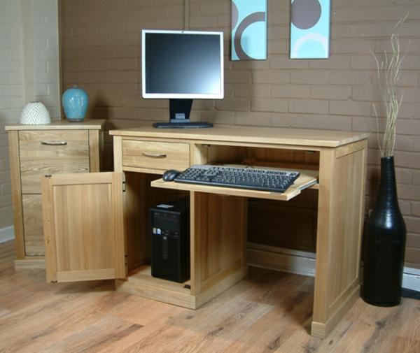 schöne--Einrichtungsideen-Büro-Schreibtisch-Holz-modernes-Design