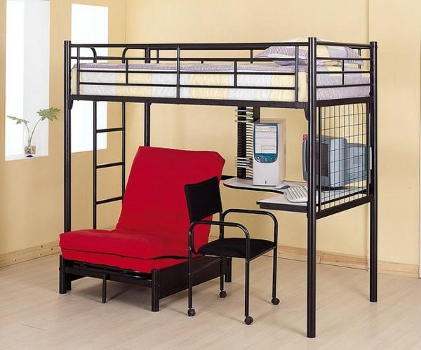 schöne-Interior-Design-Ideen-Hochbett-mit-Treppe-und-Schreibtisch