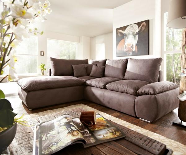 schöne-bequeme-couch-braun-schöne-einrichtungsideen-für-das-wohnzimmer