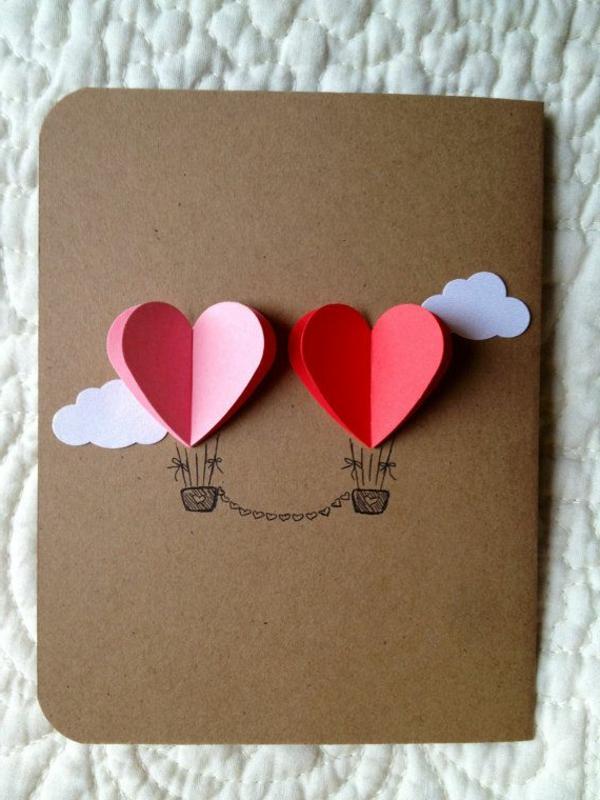 schöne-ideen-valentinstag- -deko-herzen-ideen-valentinstag-karte--