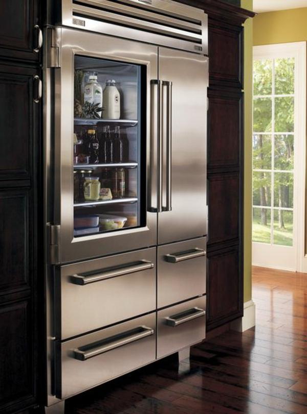 schöner-hochwertiger-kühlschrank-mit-glastür Glastürkühlschrank-praktische-und-super-moderne-küchenideen-lösungen-für-die-küche-wohnideen