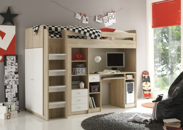 moderne hochbetten hingucker kinderzimmer. Black Bedroom Furniture Sets. Home Design Ideas
