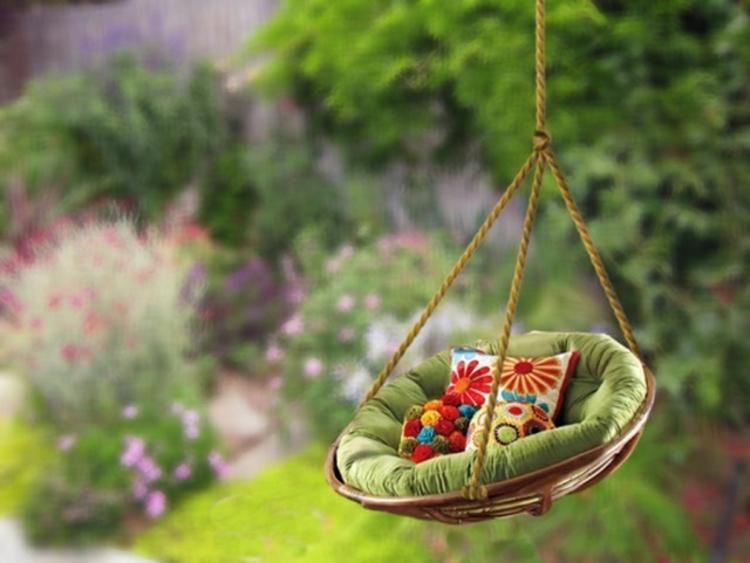 Gartenschaukel zur entspannung pur - Schaukelsessel garten ...