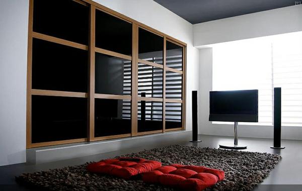schwarze-Schiebetüren-für-Kleiderschrank-schöne-Wohnideen-für-Zuhause