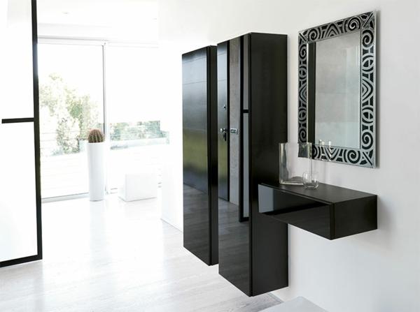 schwarze-dielenmöbel-mit-coolem-design-dielenschränke