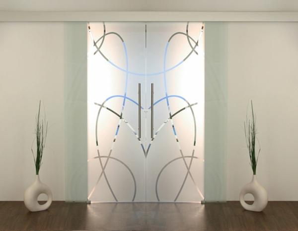 sehr-elegante-schiebetüren-glas-tolles-design-wohnideen-innendesign