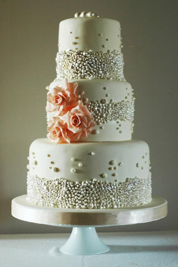 Mehrstu00f6ckige Torte zur Hochzeit: 45 Ideen!